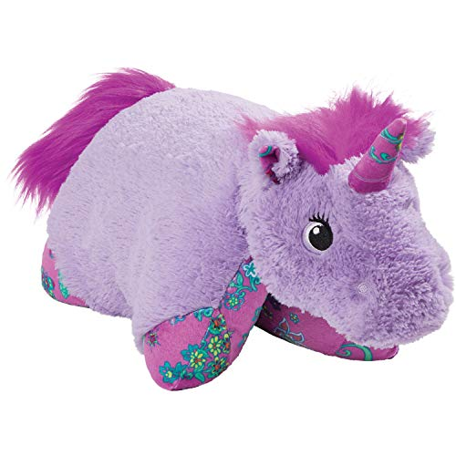 Pillow Pets Colorful Lavender Unicorn, 18