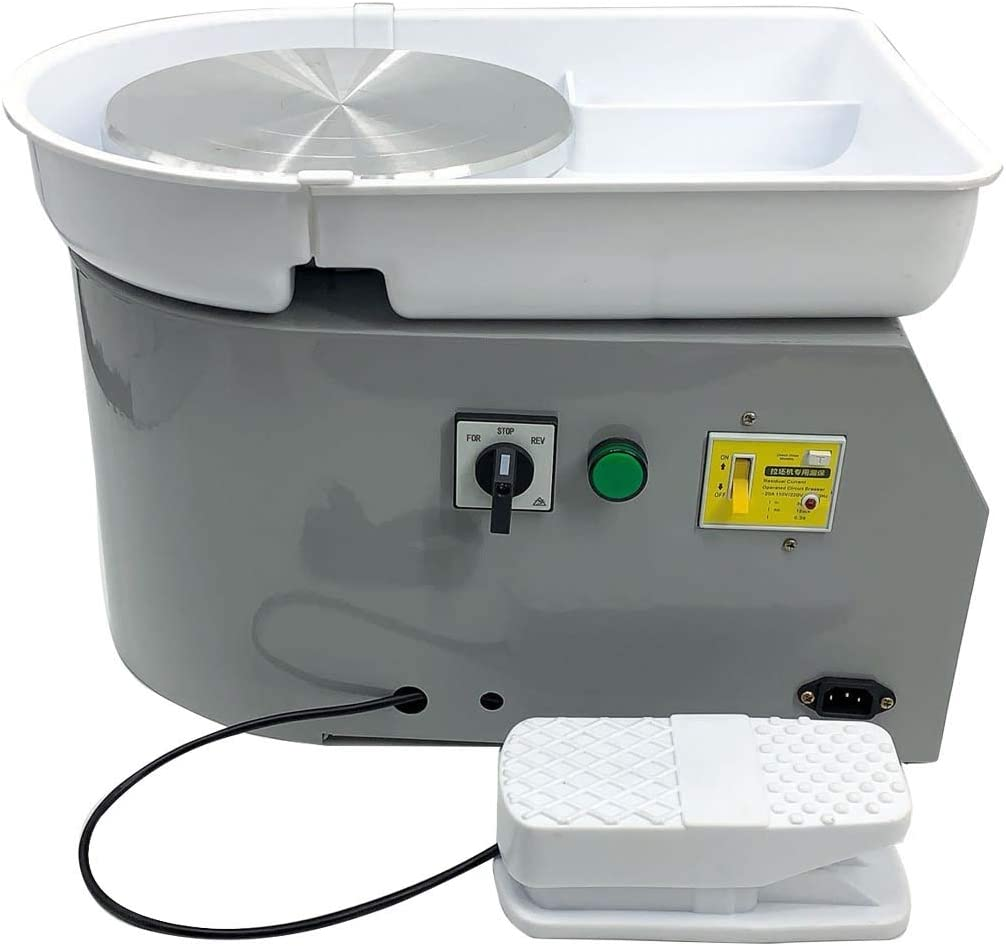 Green Cozyel Pottery Wheel 30cm Pottery Forming Machine 110V 350W Electric Pottery Wheel DIY Clay Tool with Foot Pedal and Removable Tray for Ceramic Work Ceramics Clay Art Craft