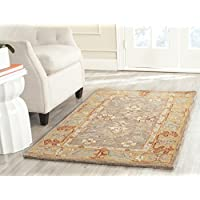 Safavieh Anatolia Collection AN577A Handmade Traditional Oriental Brown and Camel Wool Area Rug (3 x 5)