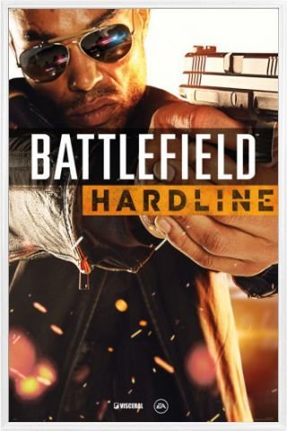 1art1 Battlefield Hardline Poster and Frame (Plastic) - Cover, Gaming (36 x 24 inches)