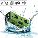SVPRO Outdoor Sports Water Resistant Music Player Wireless Speaker Mobile phone Powerbank for Hiking Climbing Jogging (B-Green)