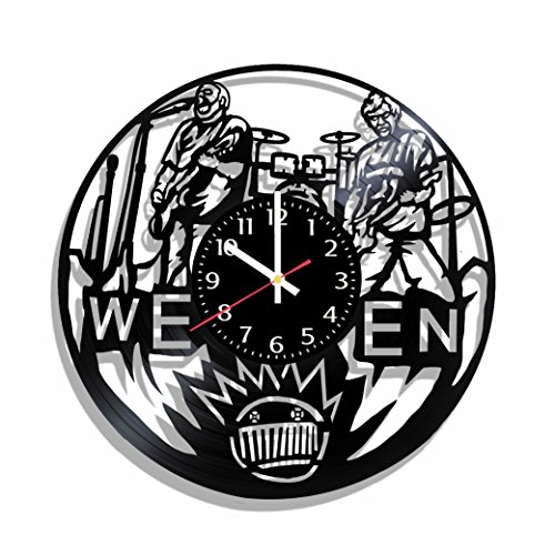 Ween wall clock made from real vinyl record, ween wall...