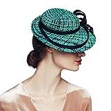 Green Fascinator Hats for Women Wedding Bridal Church Tea Party Races Headwear