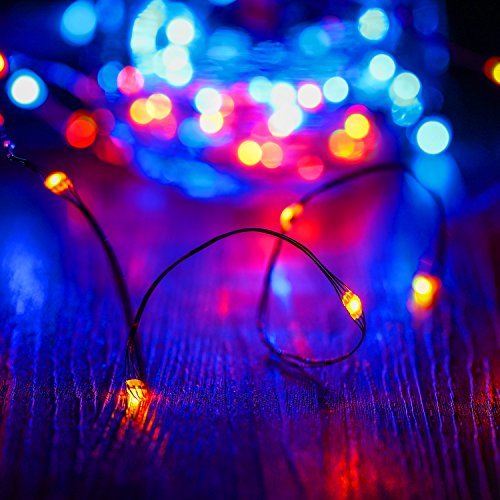 Kohree LED String Lights,USB Powered Multi Color Changing String Lights with Remote,50leds Indoor Decorative Silver Wire Lights for Bedroom,Patio,Outdoor Garden,Stroller,DecorTree.(16.4ft) by Kohree (Image #3)