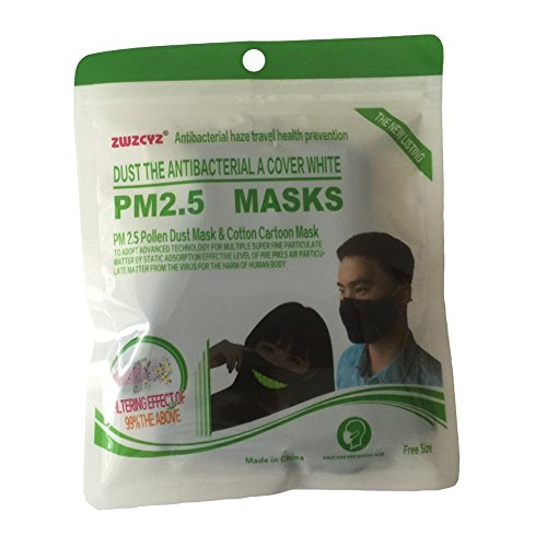 ZWZCYZ N95 Mask Dust Mask Anti Pollution Mask PM2.5 4 Layer Activated Carbon Filter Insert Can Be Washed Reusable Pollen Masks Cotton Mouth Mask for Men Women (Medium(Women's), Black) by ZWZCYZ (Image #6)
