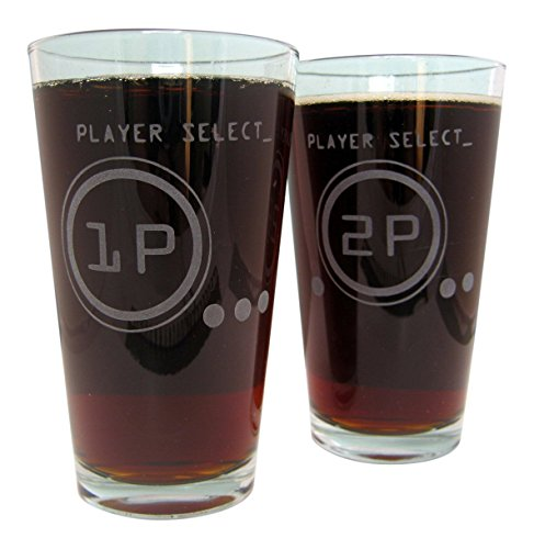Player Select | Etched Pint Glasses (Set of Two)
