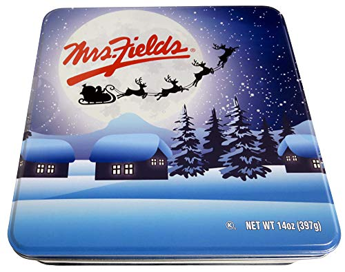 Mrs Fields Holiday Assorted Soft Baked Cookies Tin