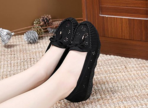 Ladies Shoes Walking Black aged Cozy Middle YVWTUC Casual Lightweight Summer xwv0pqEqA