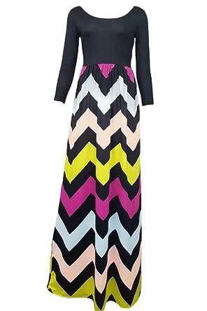 e80ac8e2f9 Prime Leader Best Day Ever Boheamin Maxi Dress For Women - Black -   Amazon.co.uk  Clothing