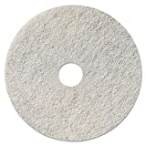 3M 35085 Niagara Natural White Burnishing Pad, 27'' Diameter, White (Case of 5)
