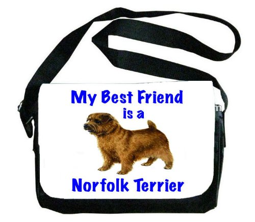 My Best Friend is Norfolk Terrier Messenger Bag