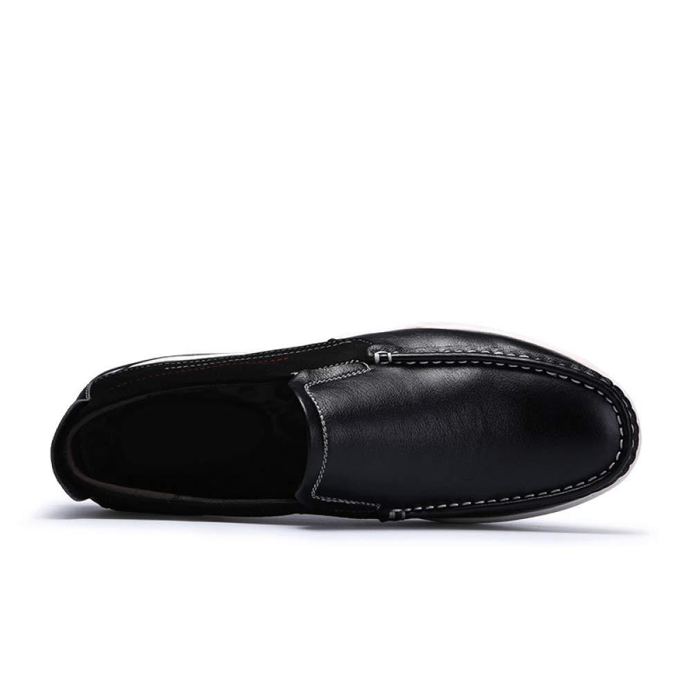 WDYY Weichen Leder Schuhe Weichen Boden Schuhe Leder Casual Schuhe Runde Schuhe schwarz 2b2255