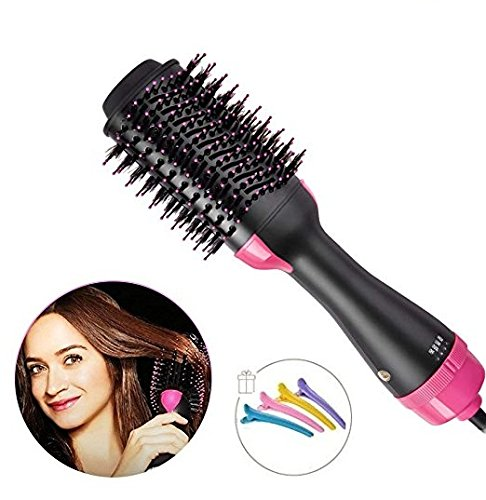- One Step Hair Dryer Volumizer Styler - Multifunctional Hot Comb High-Power - Salon Hot Air Paddle Styling Brush Negative Ion Generator Hair Straightener Curler Styler Perfect Gift For Women