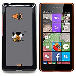 - Funny Cow Milking/ Hard Snap On Cell Phone Case Cover - Cao - For Microsoft Nokia Lumia 540 N540