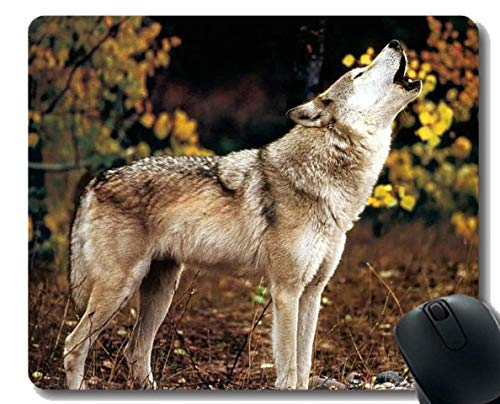 Gaming Mouse Pad Custom,Wolf Home Office Computer Accessories Mousepads