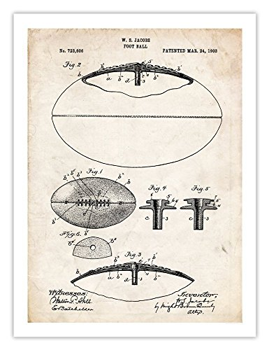 Steves Poster Store FOOTBALL INVENTION POSTER 1903 US PATENT PRINT 18X24 JACOBS VINTAGE SPORTS FOOT BALL NFL FAN GIFT