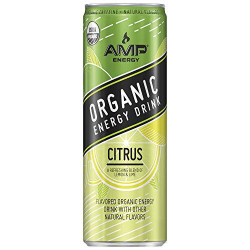 Amp Energy  Organic Energy Drink  Citrus  12 Oz Cans  12 Pack