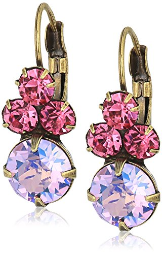 Sorrelli Womens Radiant Sunrise Wisteria Drop Earrings, Pink, 1