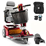Shoprider Sunrunner 3-Wheel Electric Mobility Scooter 888B-3 RED + Challenger Accessories - Bundle