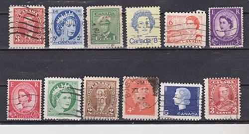Queen Elizabeth II King George VI King George V Canada Postage Stamps