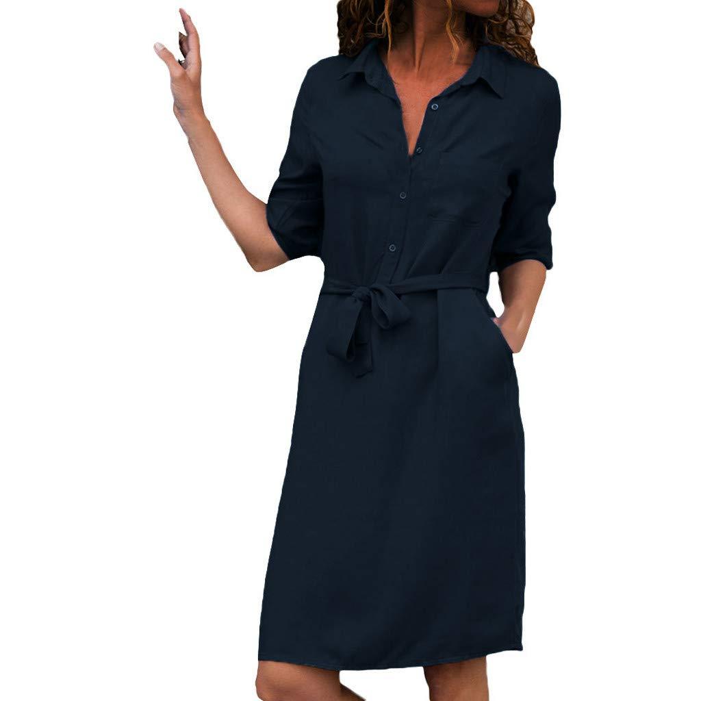 Big Sale,YetouWomen's Sleeveless Maxi Dresses Summer Boho Floral/Solid Spaghetti Strap Casual Beach Dress Navy