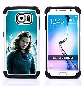 - Hermione Girl/ H???¡¯????brido 3in1 Deluxe Impreso duro Soft Alto Impacto caja de la armadura Defender - SHIMIN CAO - For Samsung Galaxy S6 G9200