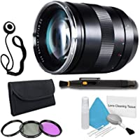 Zeiss 135mm f/2.0 Lens for Canon Digital SLR Cameras + 77mm 3 Piece Filter Kit + Lens Cap Keeper + Deluxe Cleaning Kit + Lens Pen Cleaner DavisMAX Bundle - International Version (No Warranty)