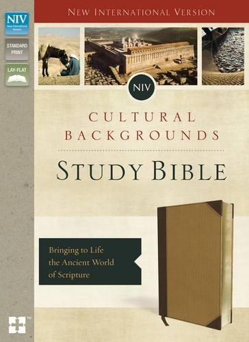 NIV, Cultural Backgrounds Study Bible, Imitation Leather, Tan, Red Letter Edition