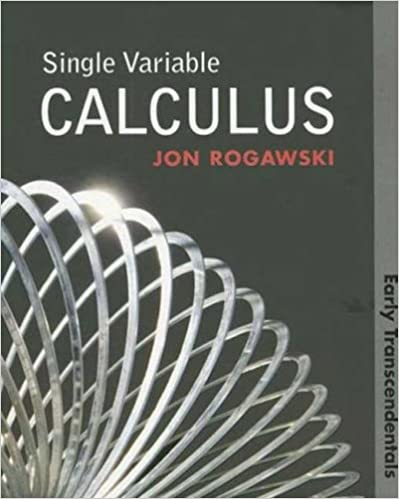 Single variable calculus early transcendentals jon rogawski single variable calculus early transcendentals jon rogawski 9781429210751 amazon books fandeluxe Gallery