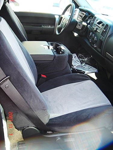 C1127 V1/V7 Durafit Seat Covers Black/gray Chevy LT Pickup 40/20/40 Bench with Console in Automotive Velour. C1127 V1/V7
