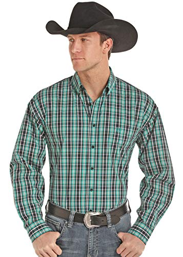 Panhandle Slim 36D8492 Long Sleeve Plaid Snap Front Top (Large) - Panhandle Slim Snap Shirt