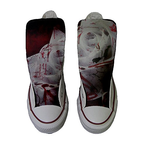 Converse chaussures coutume fané Adulte White Customized Rose produit artisanal rouge FqrfFxwPnO