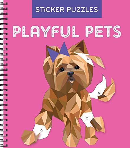 Art Sticker Book - Sticker Puzzles: Playful Pets