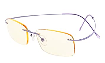 672366a201f Eyekepper Titanium Rimless Computer Reading Glasses Readers Women Purple  +2.00