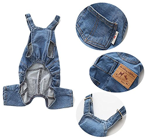 PetBoBo Dog Clothes Costumes, Pet Jean Overalls Clothes, Pet Dog Jean Skirt, Pet Fashion Dress/2 Sty - http://coolthings.us