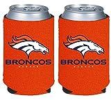 NFL Football 2014 Team Color Logo Can Kaddy Holder Cooler 2-Pack (Denver Broncos - Orange)