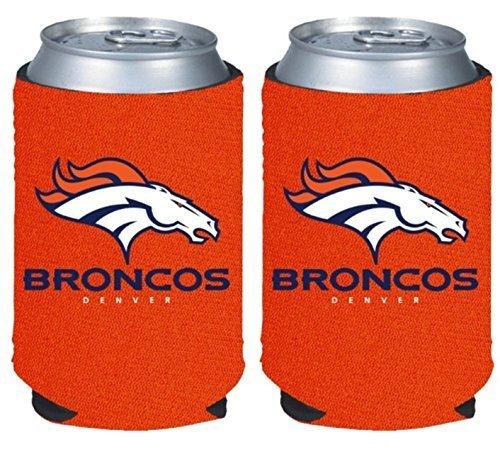 (NFL Football 2014 Team Color Logo Can Kaddy Holder Cooler 2-Pack (Denver Broncos - Orange))