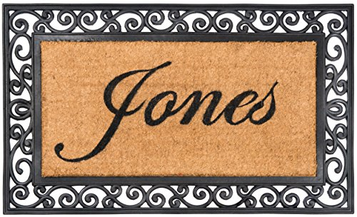 Nance Industries YourOwn Custom Name Monogrammed Rubber Welcome Mat, 24