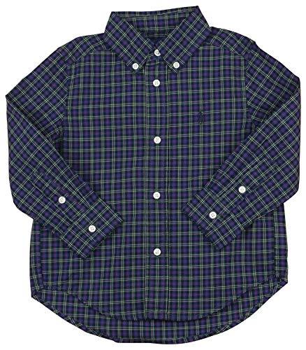 Polo RL Little Boy's (4-7) Button Down LS Plaid Shirt (6, Navy Multi)