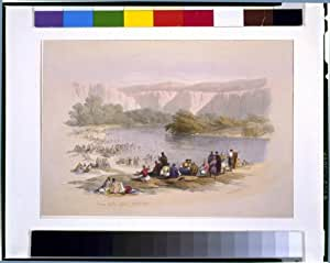 Photo: Banks of the Jordan River,April 2nd 1839,David Roberts,artist,The Holy Land
