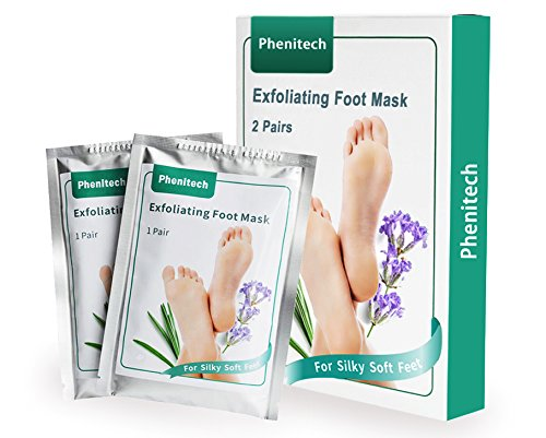 Foot Peel Mask Feet Baby Soft Touch 2 Pack- Phenitech Exfoliating Dead skin Foot Peeling Mask and Callus Reducer Away (02)