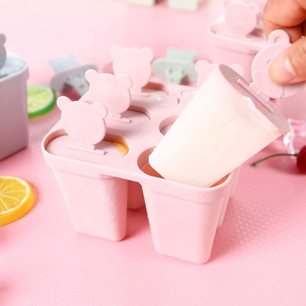 con coperchio a bastoncino per succhi Stampo per ghiaccioli e ghiaccioli Brussels08 yogurt a 6 fessure lecca-lecca Blue
