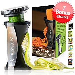 Best zucchini spiralizer with 6 ebooks and for Zoodles kitchen set
