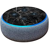MightySkins Skin for Amazon Echo Dot (3rd Gen) - Black Marble | Protective, Durable, and Unique Vinyl Decal wrap Cover | Easy to Apply, Remove, and Change Styles | Made in The USA