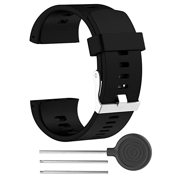 Dabixx Silikon Ersatzarmband Armband für Polar V800 Sport Smart Watch - Schwarz