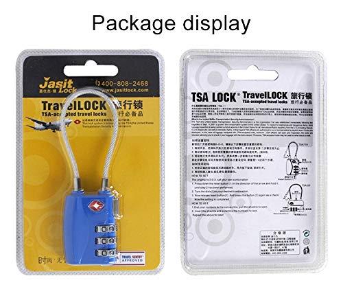 Color : Silver Dig dog bone TSA719 Zinc Alloy 3-Digit Password TSA Lock Travel Luggage Padlock