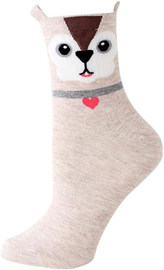 ZHANGCHI Frauensocken 5 Paar Frauen Socken Baumwolle Nette
