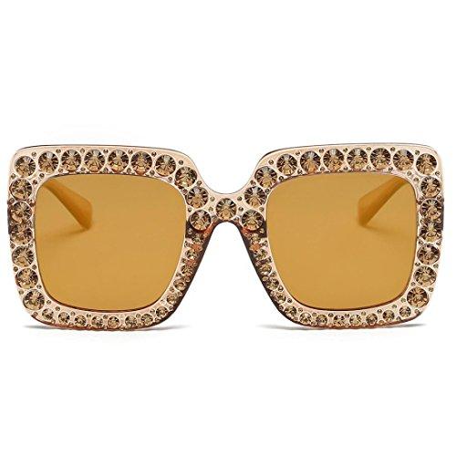 Soleil Diamant Cat Femmes Lunettes Rawdah Marque Square Ear Diamond Frame Mesdames Metal H De Quadrate Été Classique Mode Artificielle nPqWICA