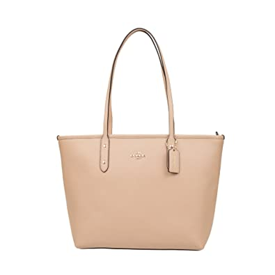 Amazoncom Coach Crossgrain Leather City Zip Tote F Beechwood - Payment invoice template free coach outlet store online free shipping
