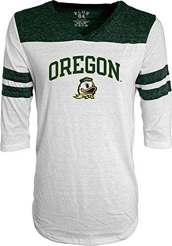 Oregon Ducks Womens 3 4Th Sleeve Tshirt White   Xl